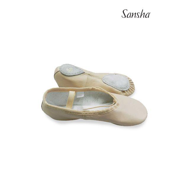 Medias puntas de ballet de piel para niños 45L CLASS