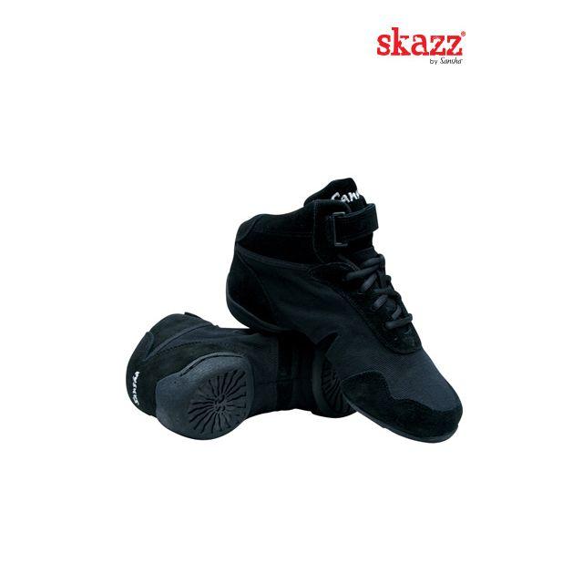 Sneakers altas de danza de piel B962L BOOMELIGHT