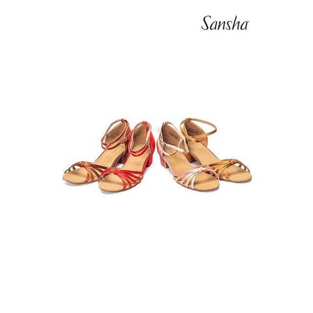 Zapatos de baile latino con pajarita para niños BR13026S GRACIA