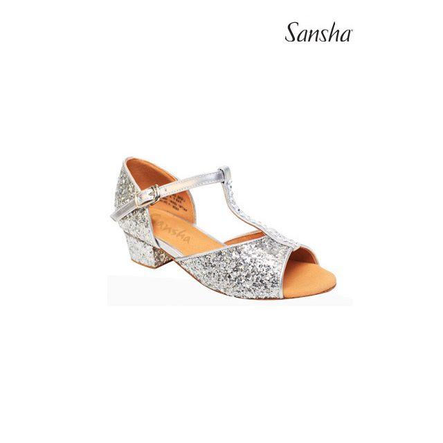 Zapatos de baile latino brillantes para niños BK13046GL ALEXA