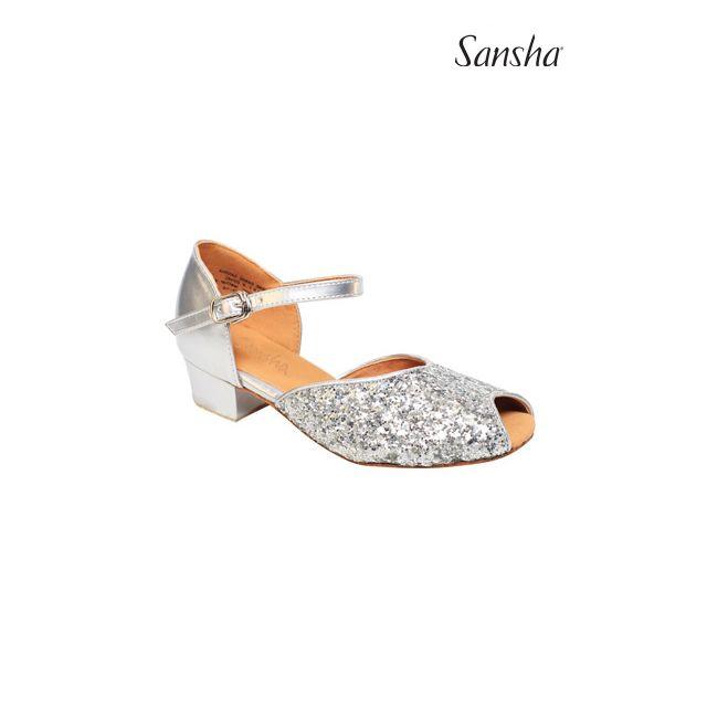 Zapatos de baile latino brillantes para niños BK13057GL MEGAN