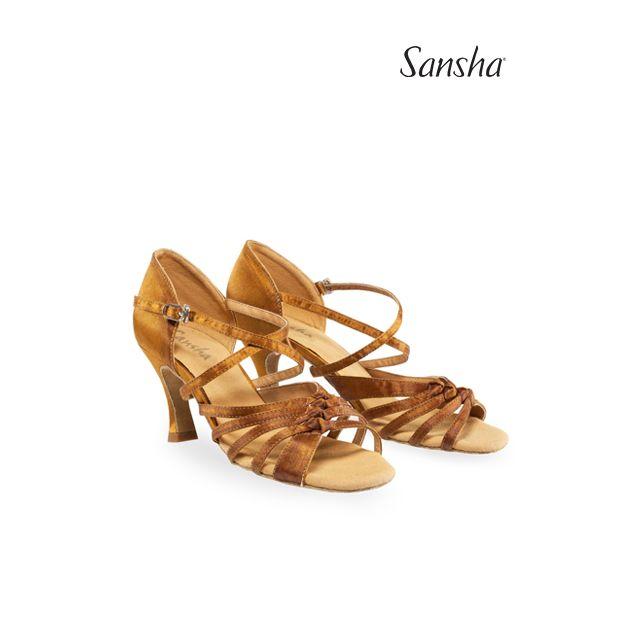 Zapatos de latino con lazos BR31045S GIPSY