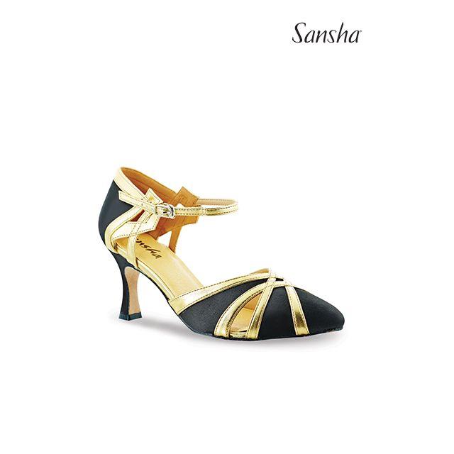 Zapatos de baile latino BR30078S GOLDA