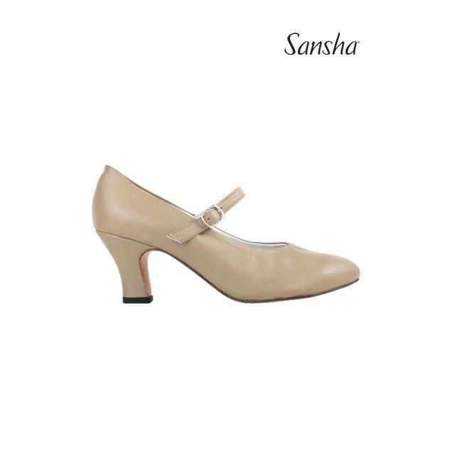 Zapatos de carácter con correa elástica CL54L ROBERTA