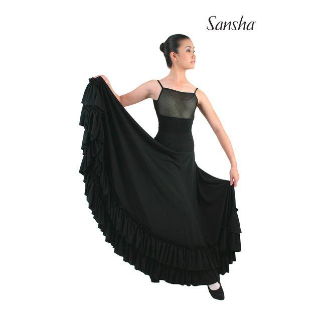 Falda de flamenco con volantes D0910P CARMEN