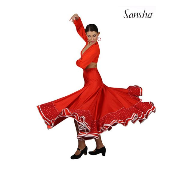 Falda de flamenco D0912N ESPERANZA