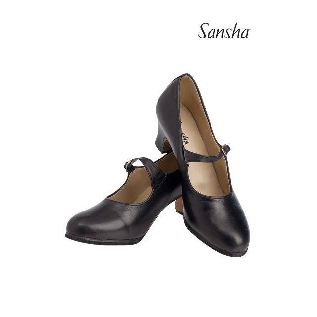 Zapatos de flamenco de piel FL901L CADIZ