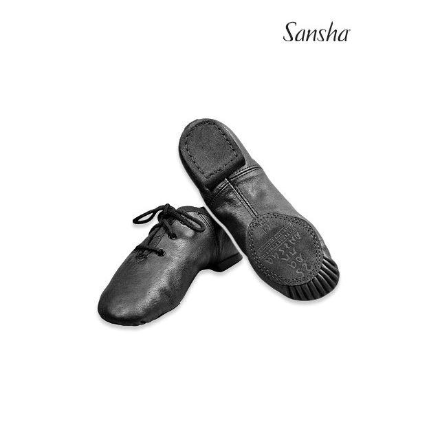 Zapatos de jazz de piel para niños JS15Lpi CAROU-SPLIT
