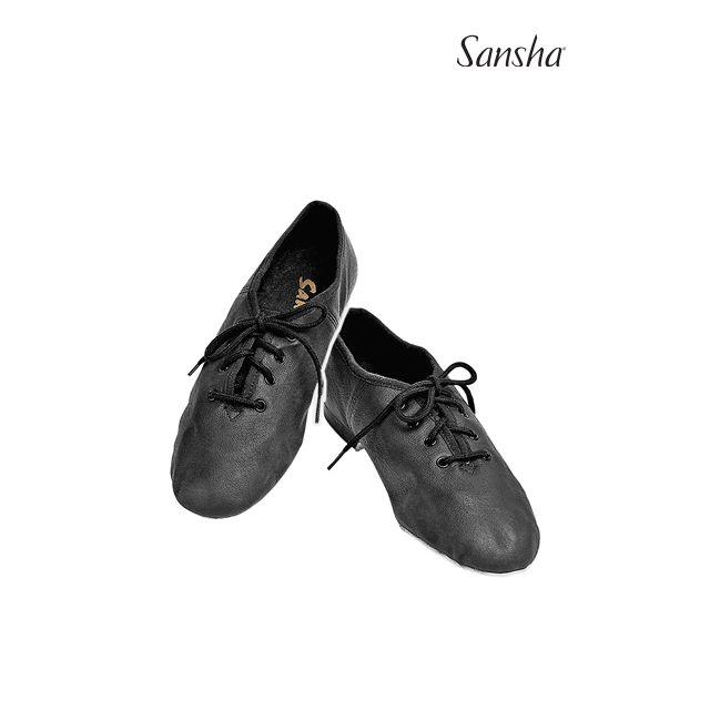 Zapatos de jazz de piel con cordones para niños JS16L CARROUSEL