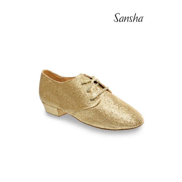 Zapatos de jazz brillantes con cordones JS43GL CABARET