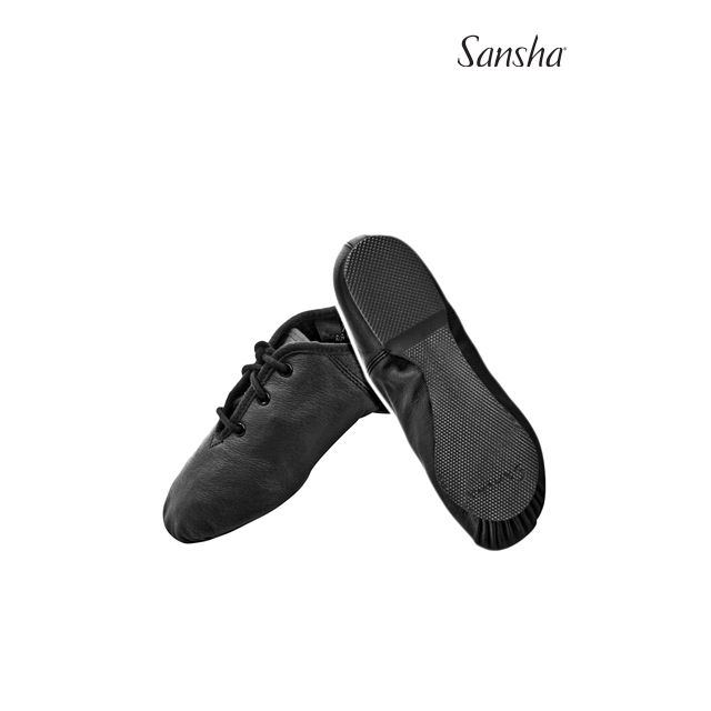 Zapatos de jazz de piel con cordones para niños JS86L SWING