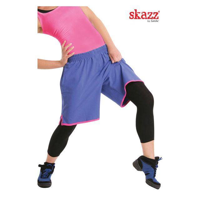 Shorts bicolor corte amplia SK0414