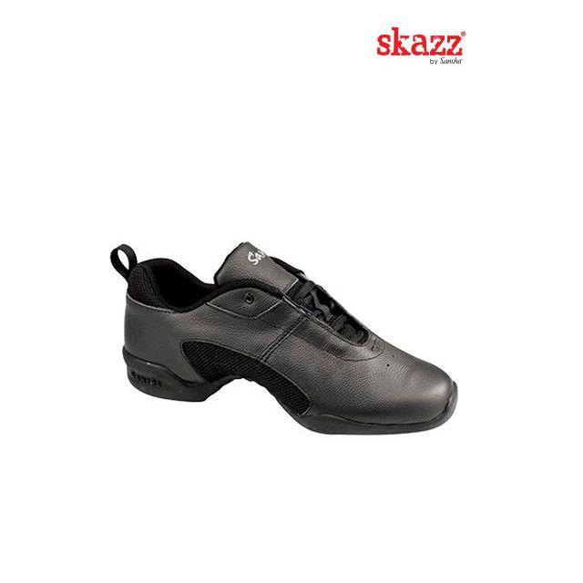 Sneakers de danza de piel T01L TITANIUM