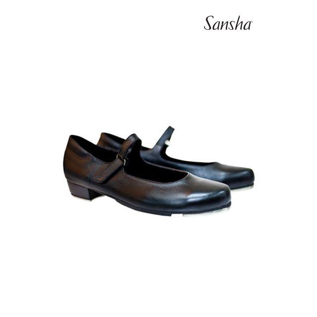 Zapatos de claqué de piel con velcro TA905L T-SONIA