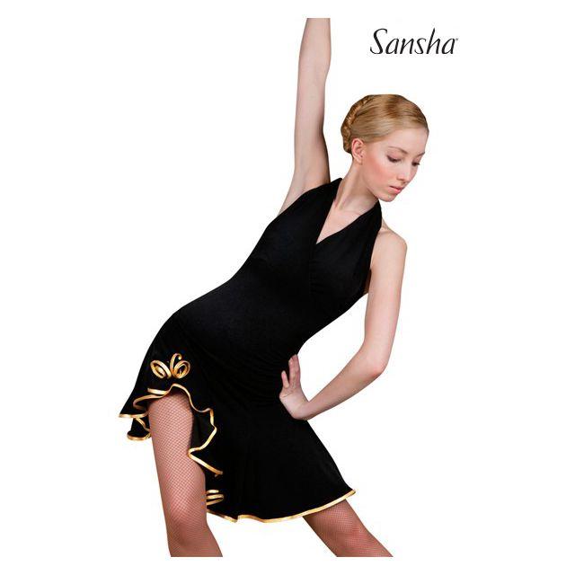 Falda asimétrica de baile latino W0701P SARA