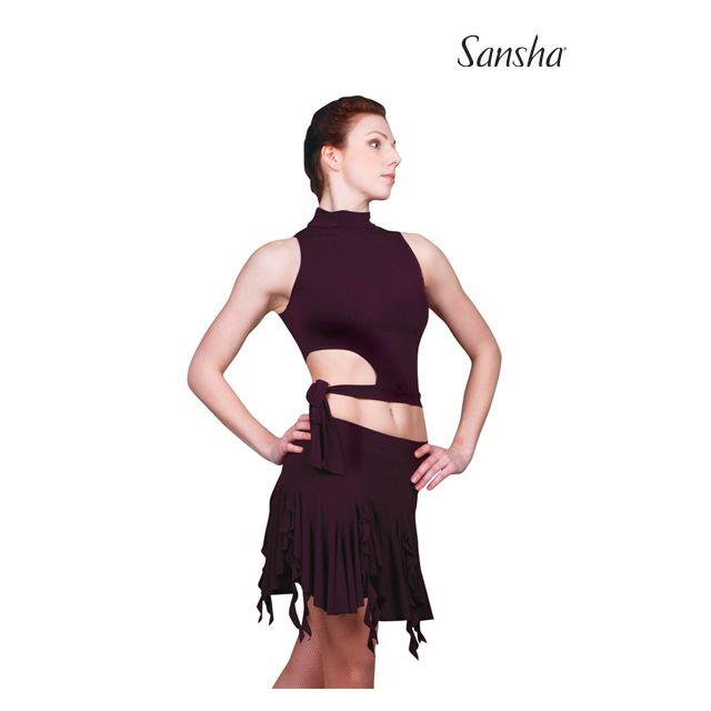 Top de baile latino sin mangas W5001P TECLA
