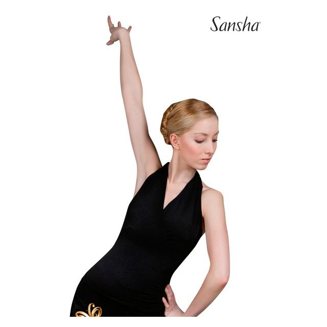 Top halter de baile latino W7001P TELA