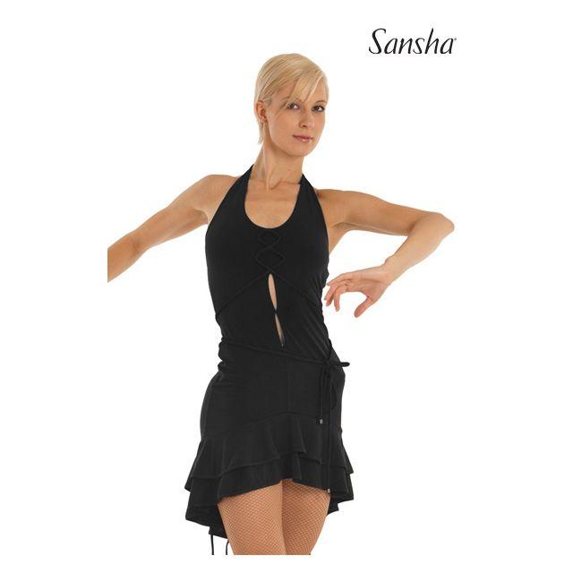 Vestido halter de baile latino W7701P DELFINA